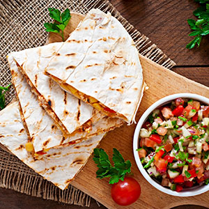 Chicken Quesadillas with Fresh Garden Salsa