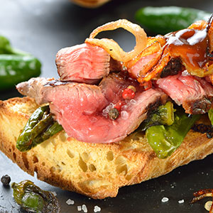 Steak Sandwiches with Peppers and Onions