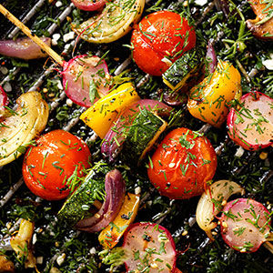 Healthy Veggie Grilled Skewers