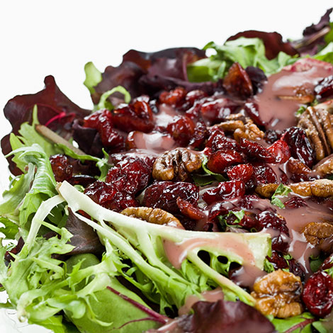 Cranberry Pecan Salad with Creamy Balsamic Dressing